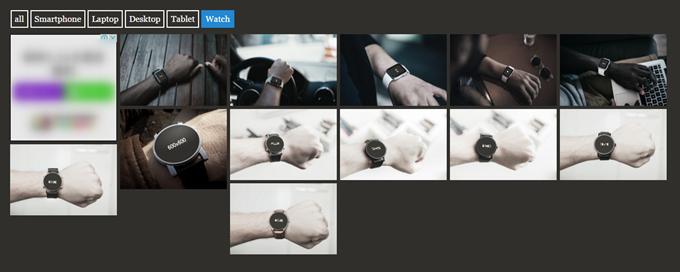 MockDropで腕時計を表示