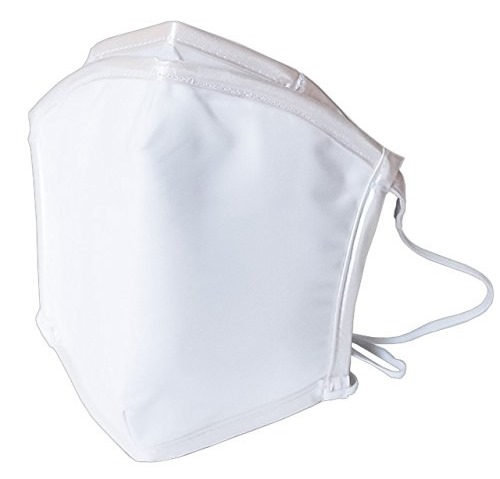 ピッタリッチ PM2.5 + 放射性物質対策 再利用可能ホワイト無地 最高級 超高性能マスク