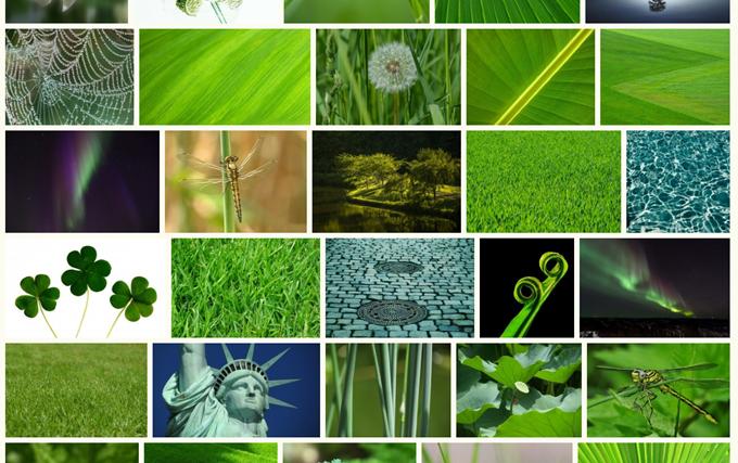 Visual Huntで緑色を検索