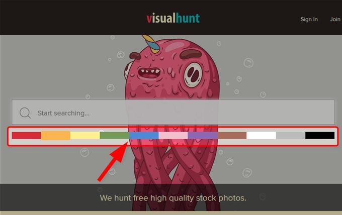 Visual Huntでは色で写真を検索できる