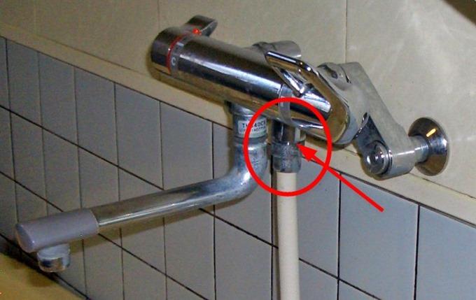 シャワーの調圧弁1