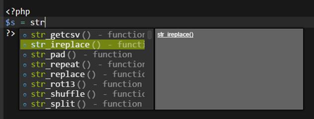 クライド9のPHPのコード補完