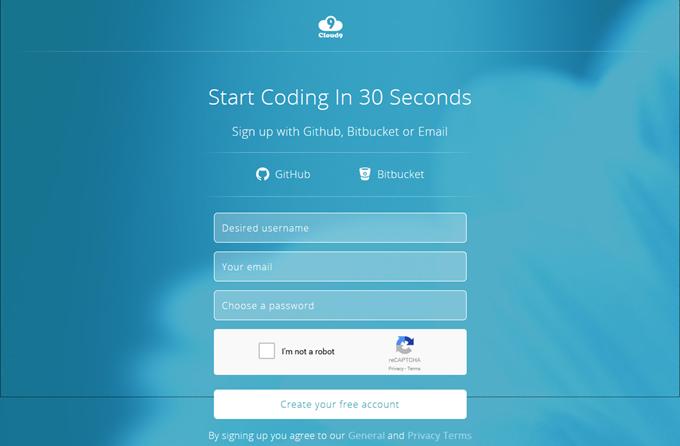 Cloud9でサインアップ時の入力項目