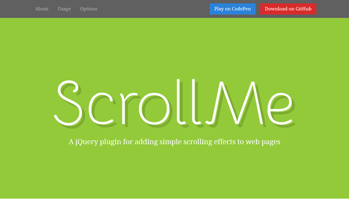 ScrollMe - For simple scrolling effects