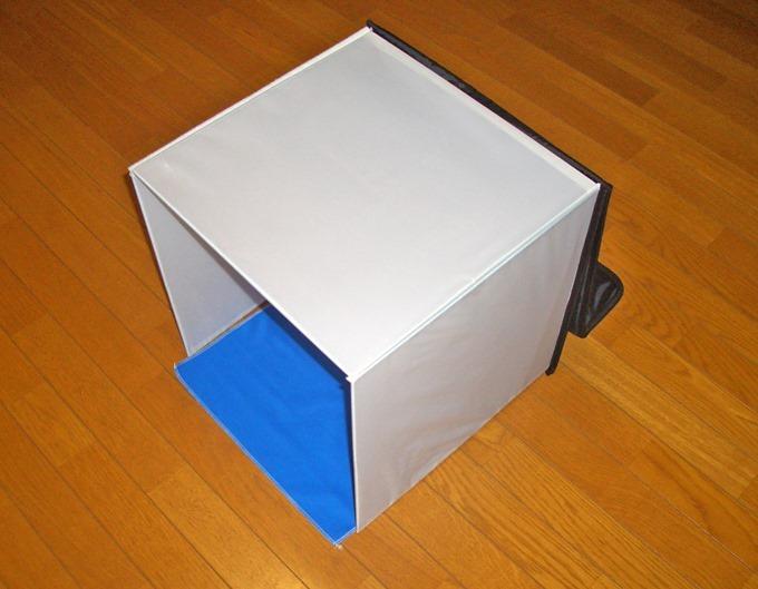撮影ボックスの完成形を横から見た状態