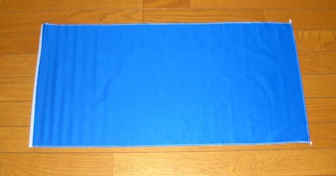 撮影用の青色マット