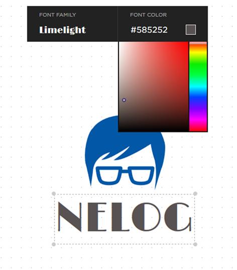 ロゴのフォントと色を変更