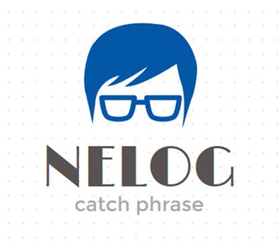 タグラインを設定したロゴ
