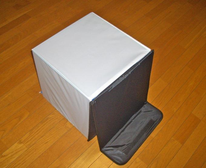 撮影ボックスを組み上げた状態