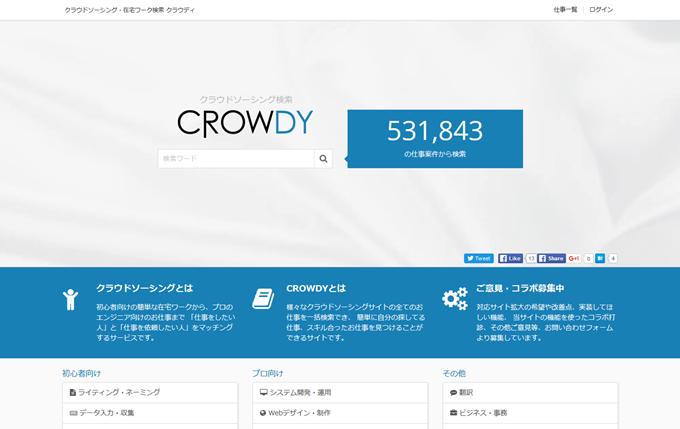 CROWDY クラウドソーシング・在宅ワーク検索
