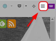 Firefoxのオプションボタンをクリック