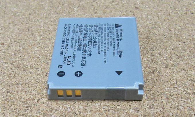 NB-6LHバッテリーの接続端子