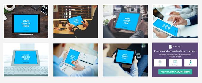 Smartmockupsのタブレットの雛形