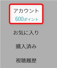 U-NEXTのトライアルアカウントに600ポイント
