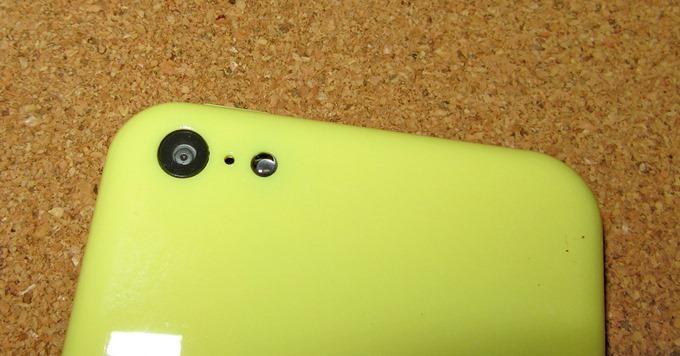iPhone 5Cモックアップのカメラ部分