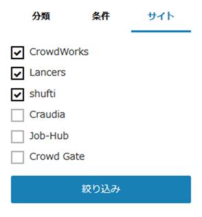 サイトを指定して検索
