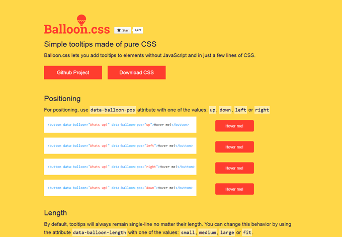 Balloon.css — CSS tooltips for HTML elements