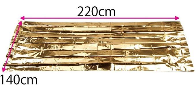 220×140cmの大判サイズ