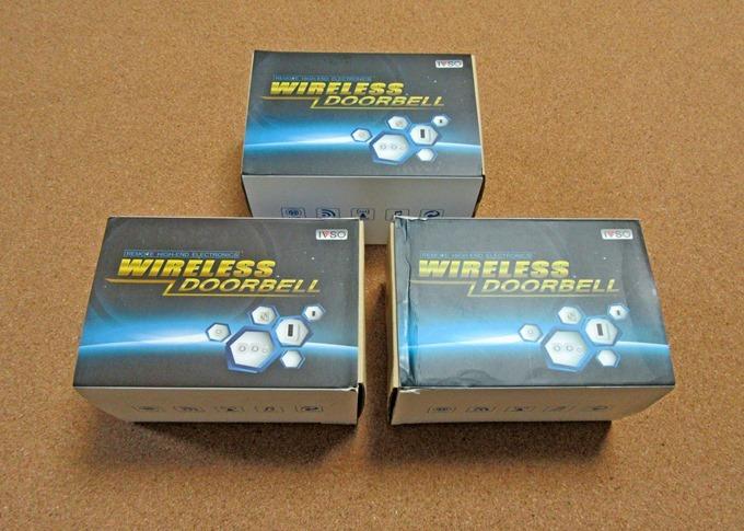 X-Flashboxから購入したドアチャイムはすべて同じ箱