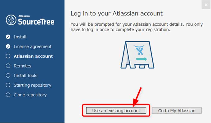 新しく作成したAtlassianアカウントでログインする