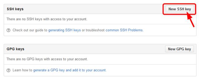 GitHubで新しいSSHキーの登録