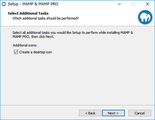 MAMPデスクトップアイコンの作成設定