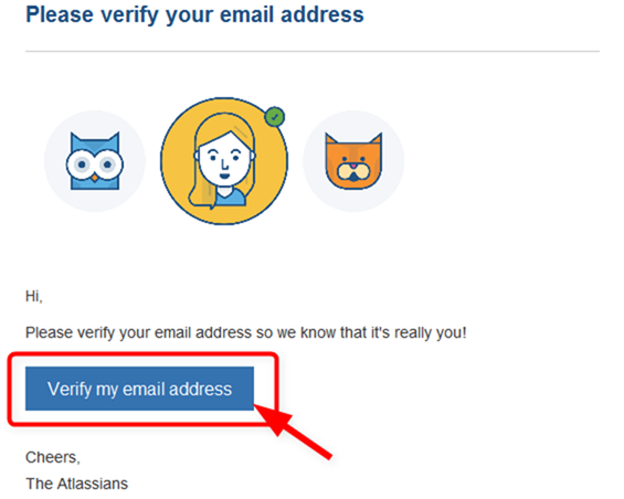 Please verify your email address