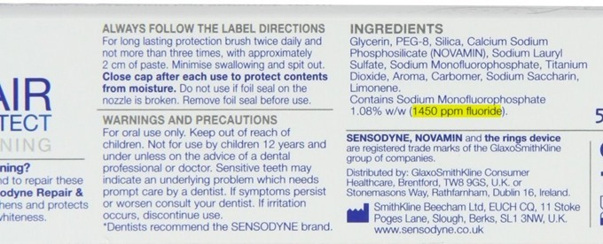 Sensodyne Repair & Protect Whitening Toothpaste 75ml