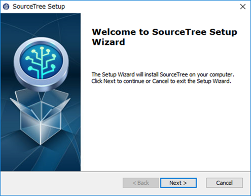 SourceTreeのウェルカム画面