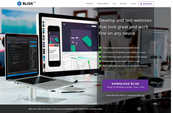 Download Blisk - a browser for web developers