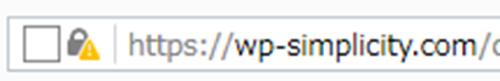 Firefox 安全でない接続