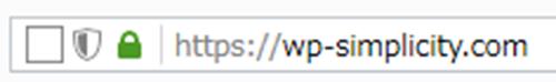 Firefoxで安全な接続状態