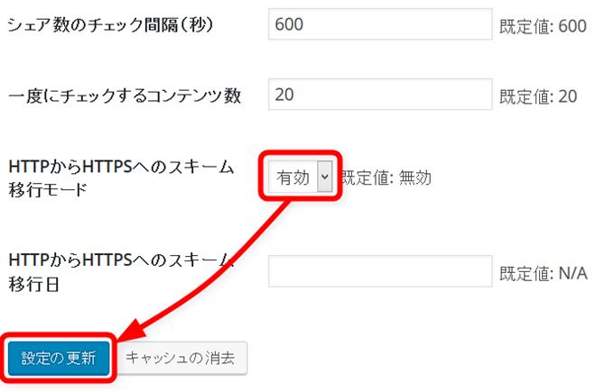 HTTPからHTTPSへのスキーム移行モード