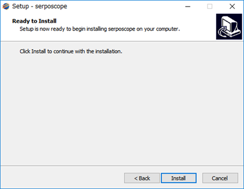 Serposcopeのインストールボタンをクリック