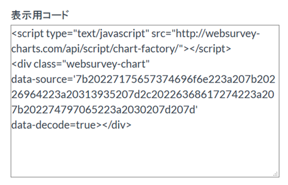 Websurveyの表示用コード