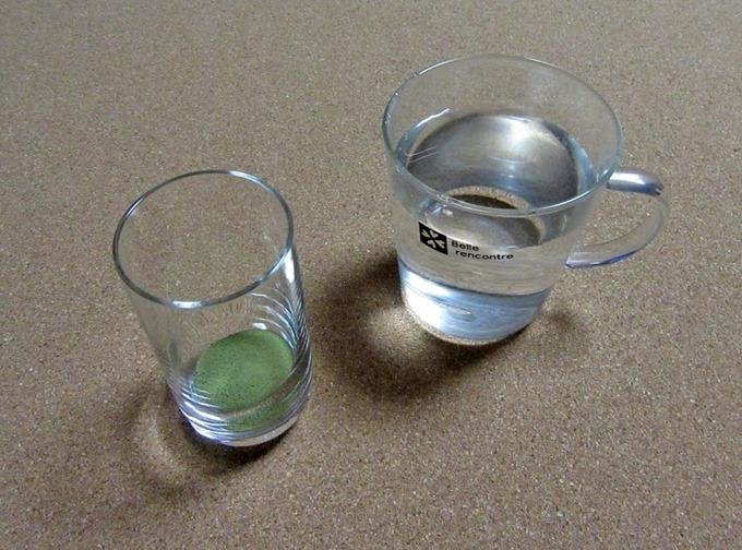 水道水で青汁を作る