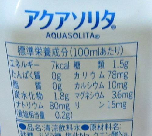 味の素アクアソリタの成分表