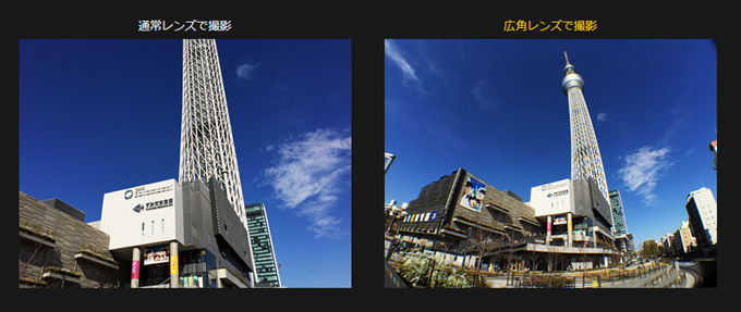 BLACK EYE LENS WIDE ANGLEの広角レンズで撮影