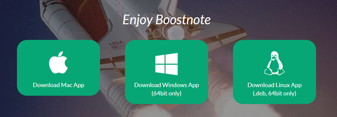 BoostnoteはMac、Windows、Linuxに対応