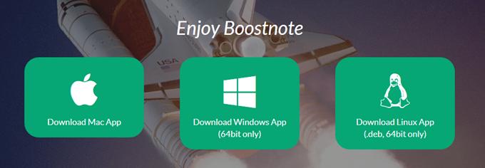BoostnoteはMac、Windows、Linuxに対応