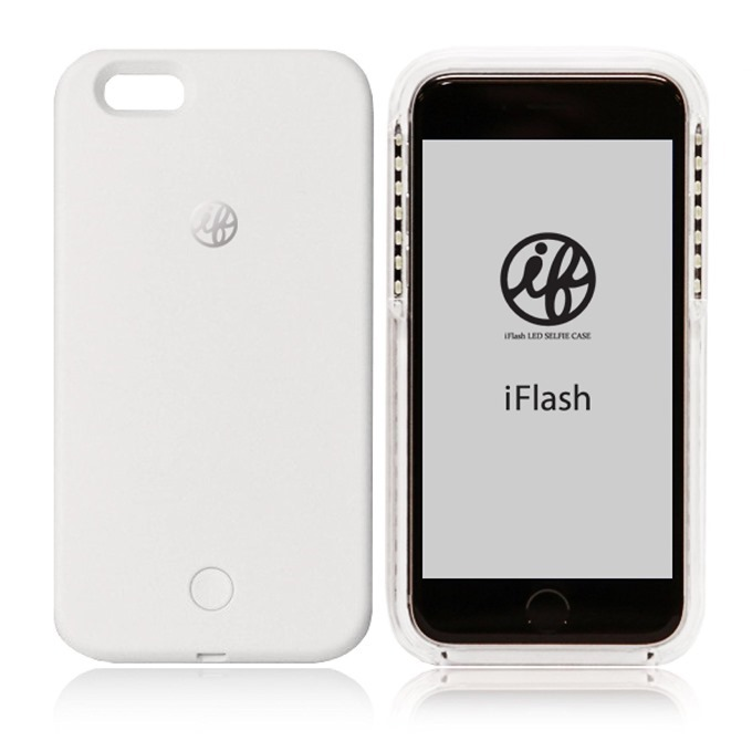 iFlash LED Selfie Case for iPhone 6・6S LEDライト付き自撮りフラッシュケース ホワイト