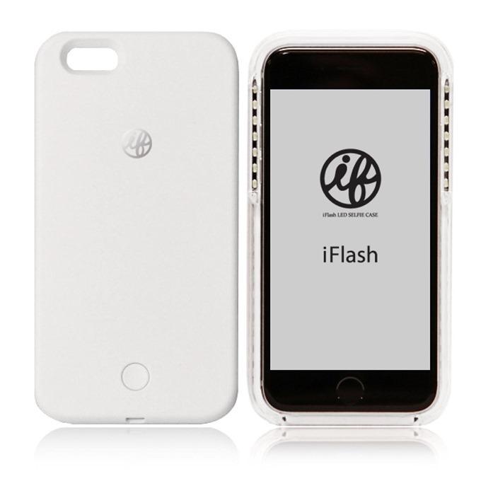 iFlash LED Selfie Case for iPhone 6・6S LEDライト付き自撮りフラッシュケース ホワイト