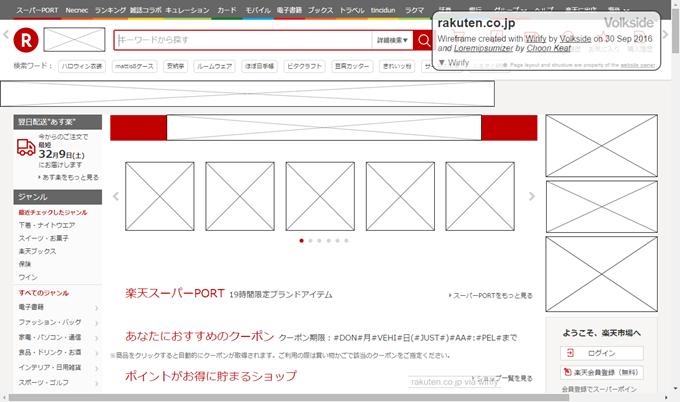 楽天でGreek Original Page機能を使った状態