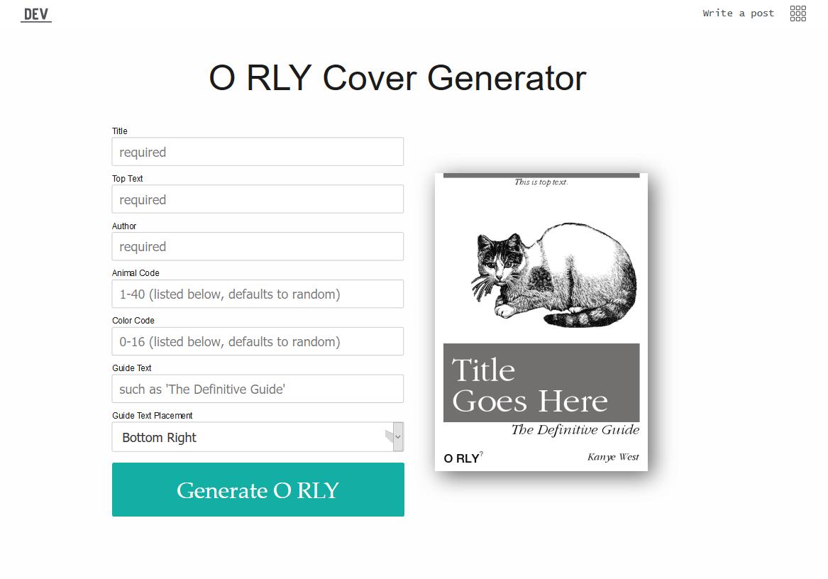 O RLY Parody Book Generator for Slack