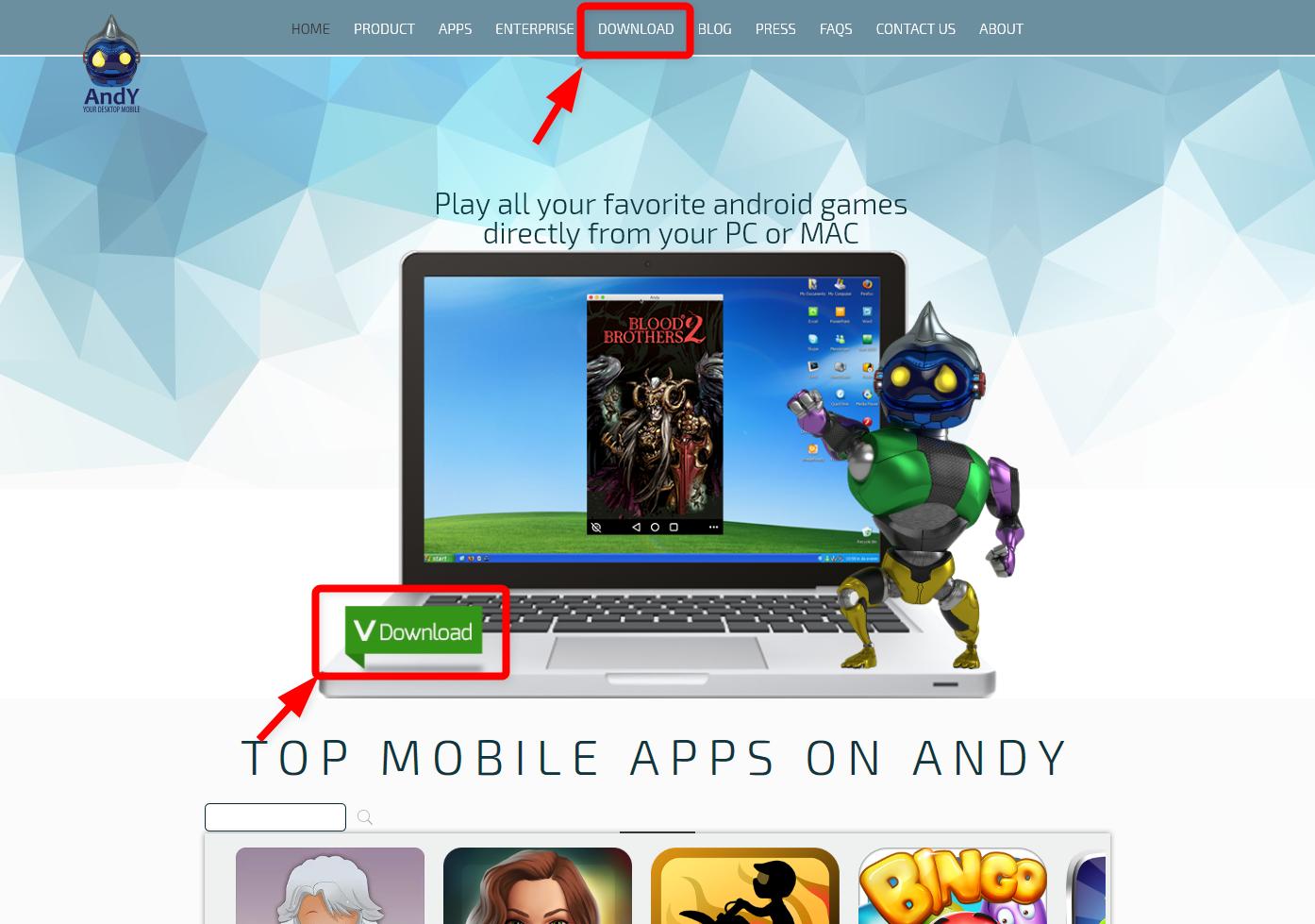 androidエミュレーター「andy」のインストール方法。無料でwindowsとmac