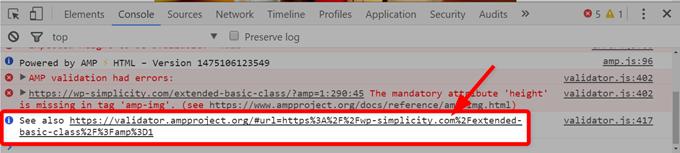 デベロッパーツールのチェック結果からもWEBツールに移動することができる