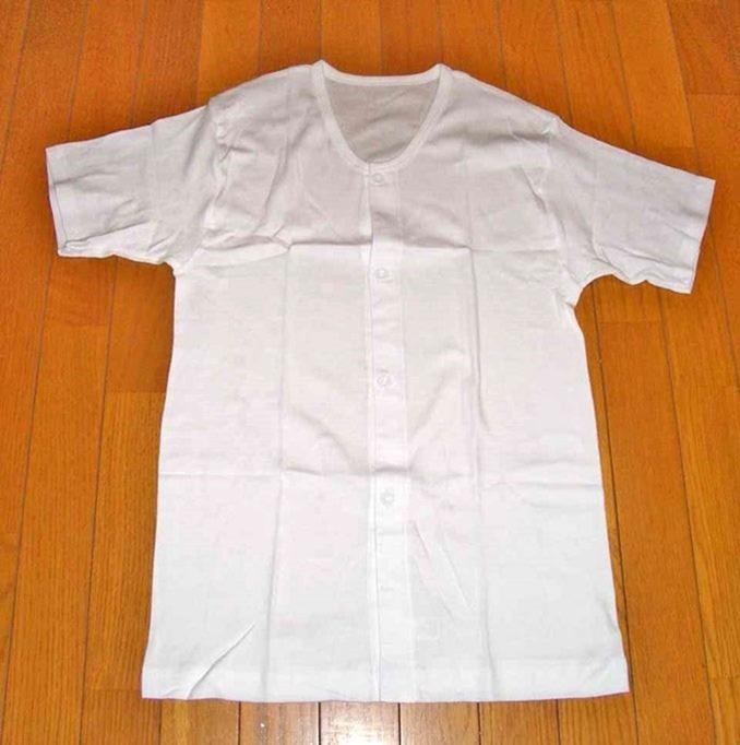 前開きシャツ
