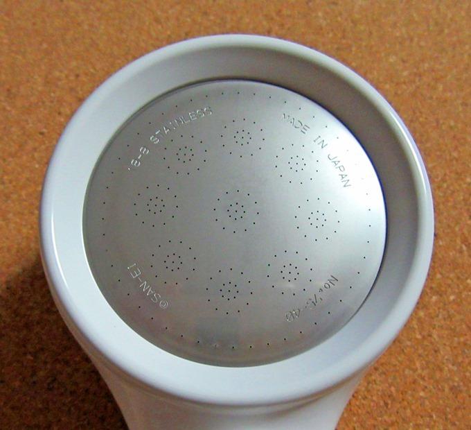 三栄水栓シャワーヘッドの極細穴