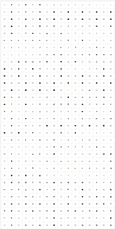 CSS ICONの図柄すべて