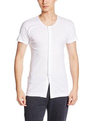 GUNZE 快適工房 半袖前あき釦付シャツ